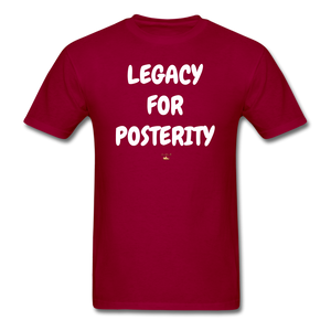 LEGACY FOR POSTERITY T-Shirt - dark red