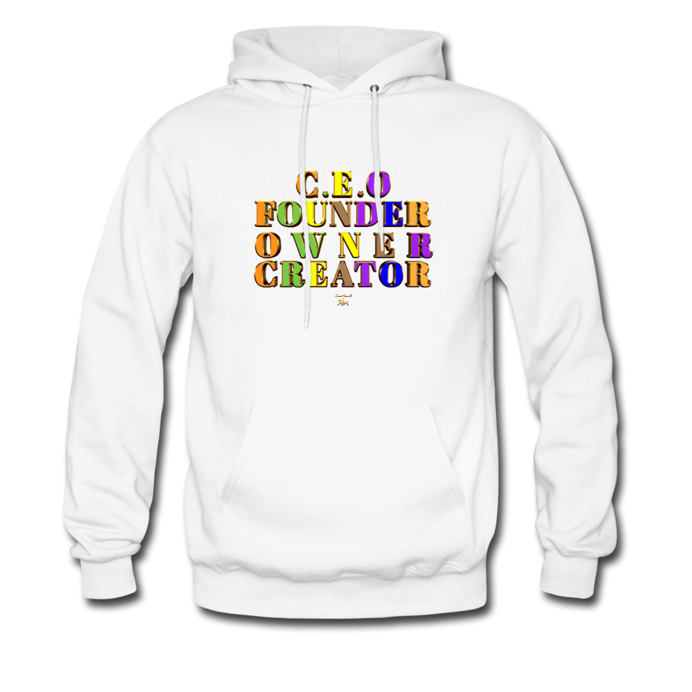 CEO/FOUNDER/OWNER/CREATOR Hoodie - white