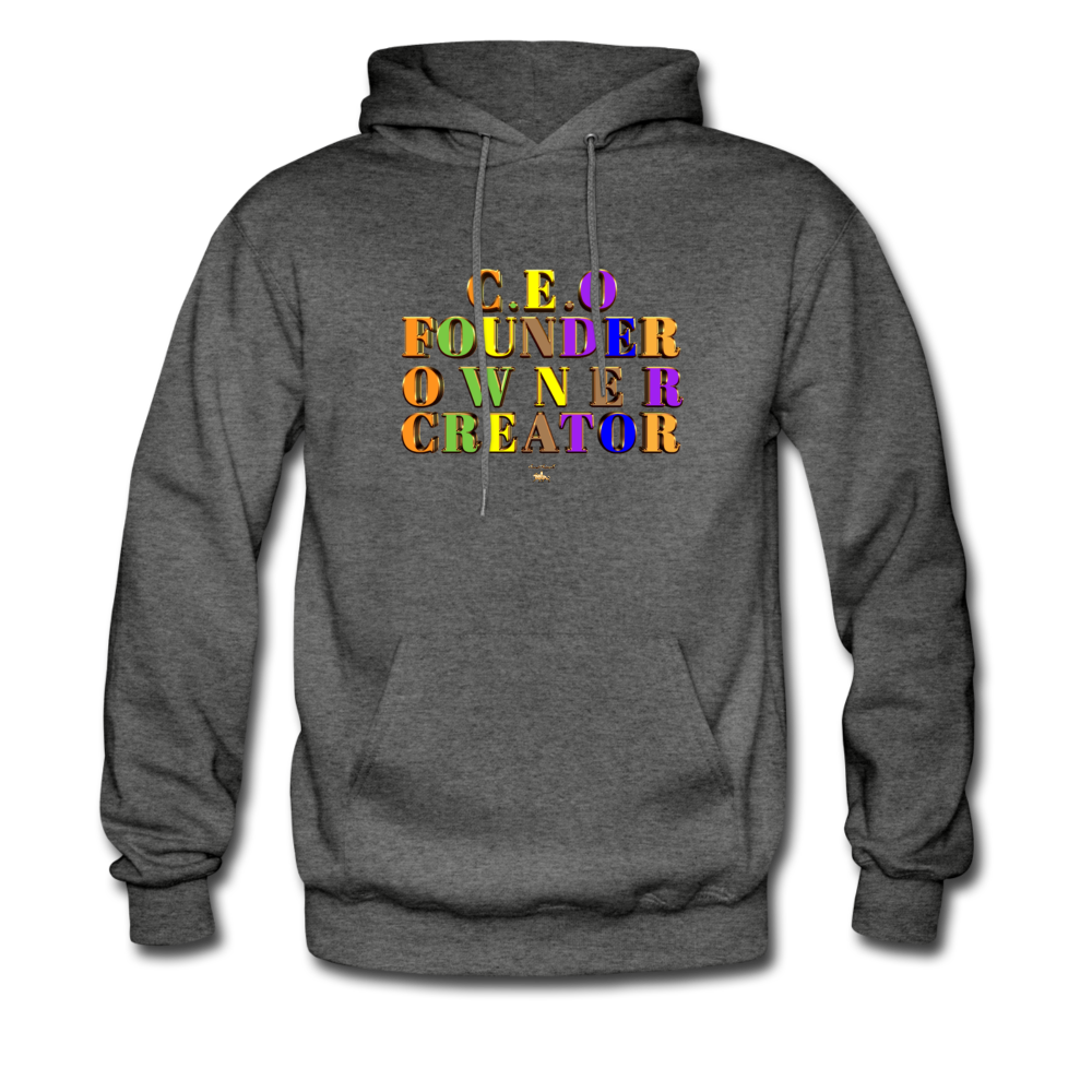 CEO/FOUNDER/OWNER/CREATOR Hoodie - charcoal gray