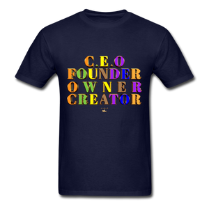 CEO/FOUNDER/OWNER/CREATOR  T-Shirt - navy