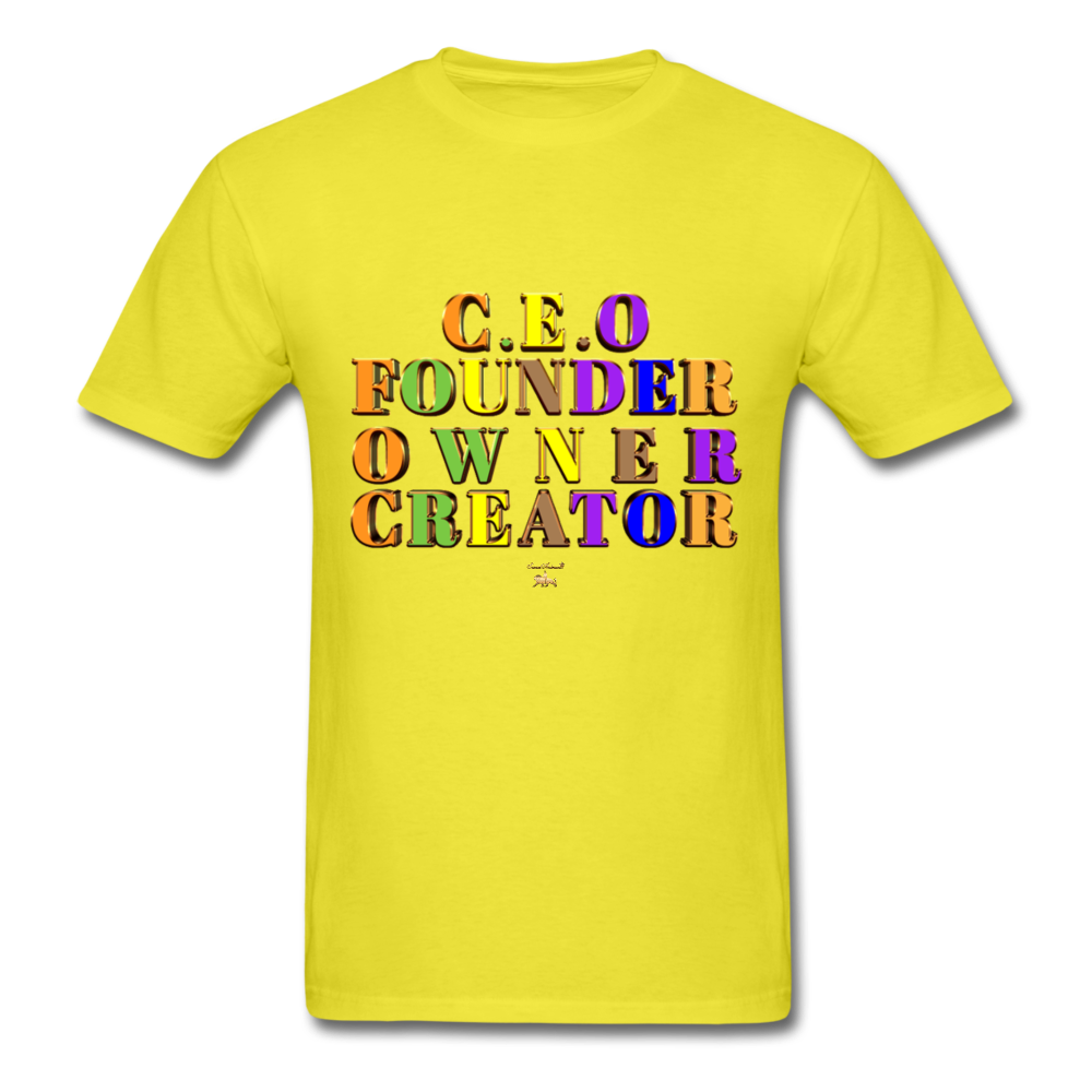 CEO/FOUNDER/OWNER/CREATOR  T-Shirt - yellow