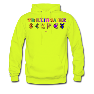 Trillionaire  Hoodie   (Adult) - safety green