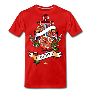 Liberty is an Anchor Premium T-Shirt - red