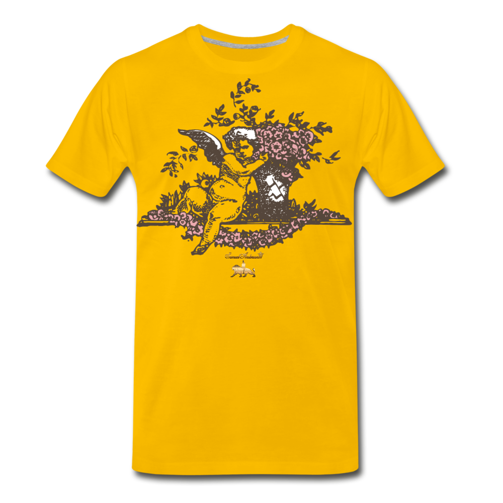 Chilling with an Angel Premium T-Shirt - sun yellow