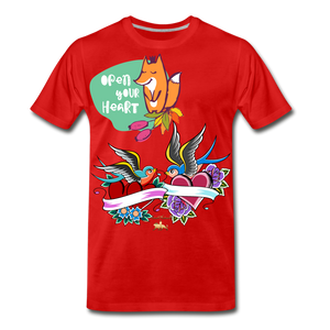 Open Your Heart Premium T-Shirt - red