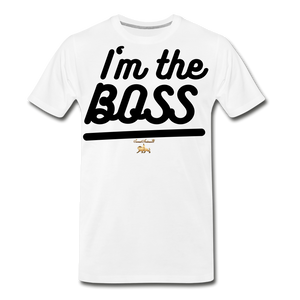 I'm the BOSS Premium T-Shirt - white