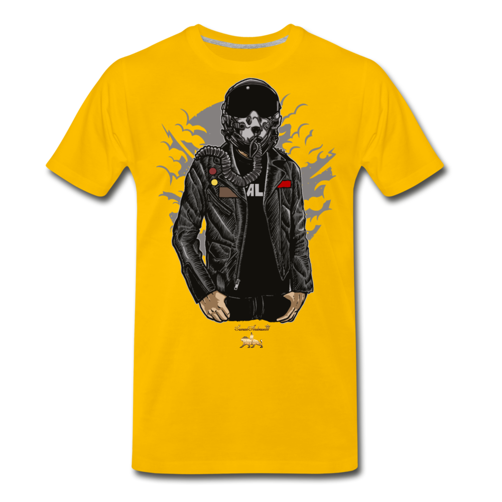 Space Fighter Premium T-Shirt - sun yellow