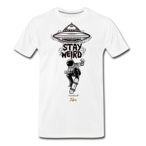 Stay Weird Premium T-Shirt - white