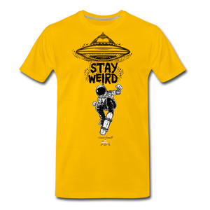 Stay Weird Premium T-Shirt - sun yellow