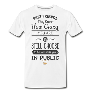 Best Friends Premium T-Shirt - white