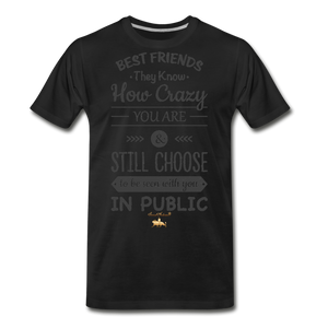 Best Friends Premium T-Shirt - black