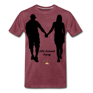 Old School Swag Premium T-Shirt - heather burgundy