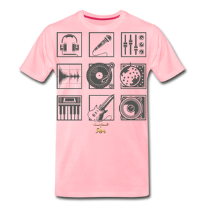 Music is Life Premium T-Shirt - pink