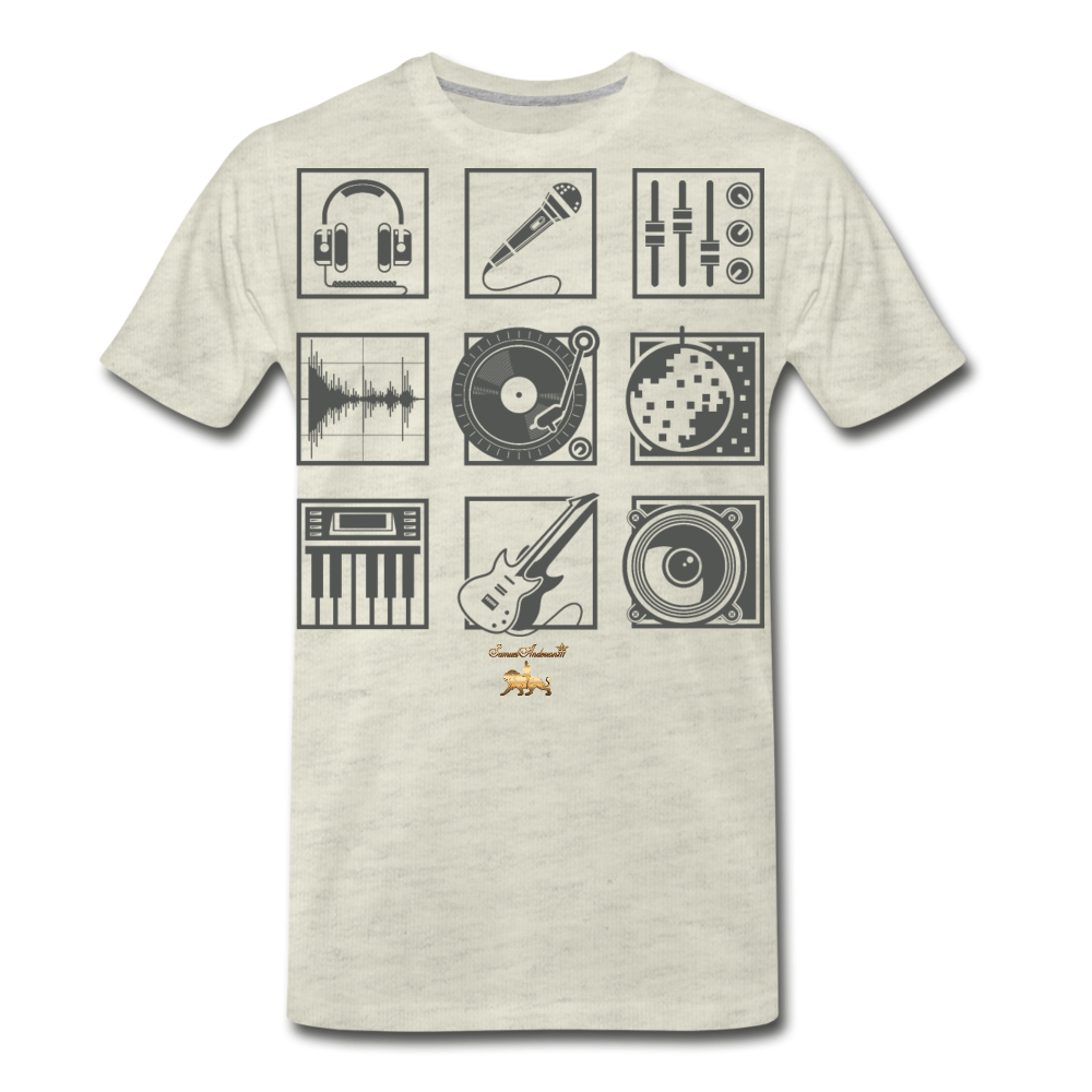 Music is Life Premium T-Shirt - heather oatmeal