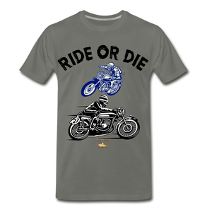 Ride or Die Premium T-Shirt - asphalt gray