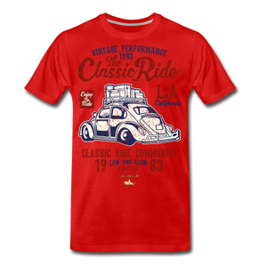 Vintage Performance Premium T-Shirt - red