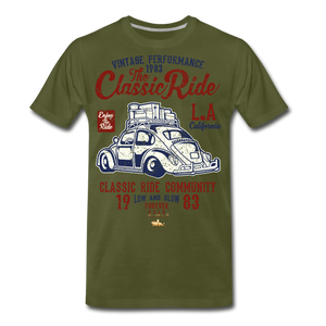 Vintage Performance Premium T-Shirt - olive green