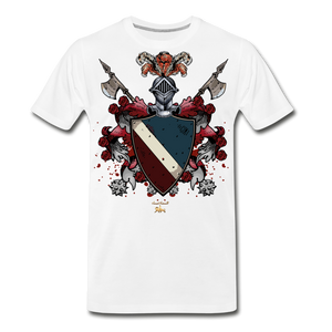 Glorious Black Knight Premium T-Shirt - white