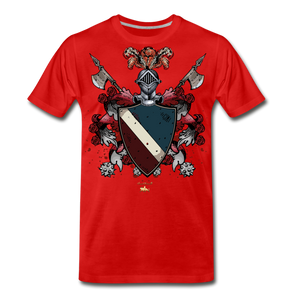 Glorious Black Knight Premium T-Shirt - red