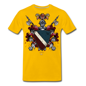 Glorious Black Knight Premium T-Shirt - sun yellow