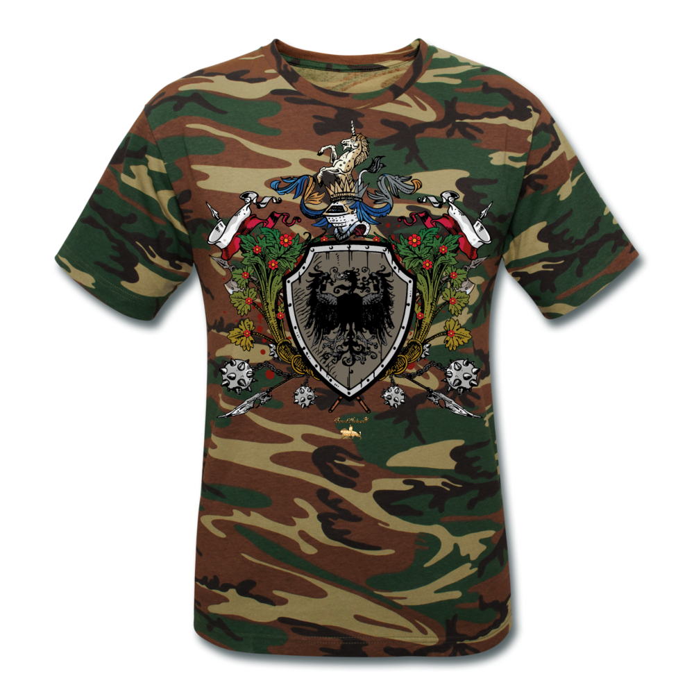 Fortitude Unisex Camouflage T-Shirt - green camouflage