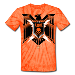 S.W.A.T- Command Team Unisex Tie Dye T-Shirt - spider orange