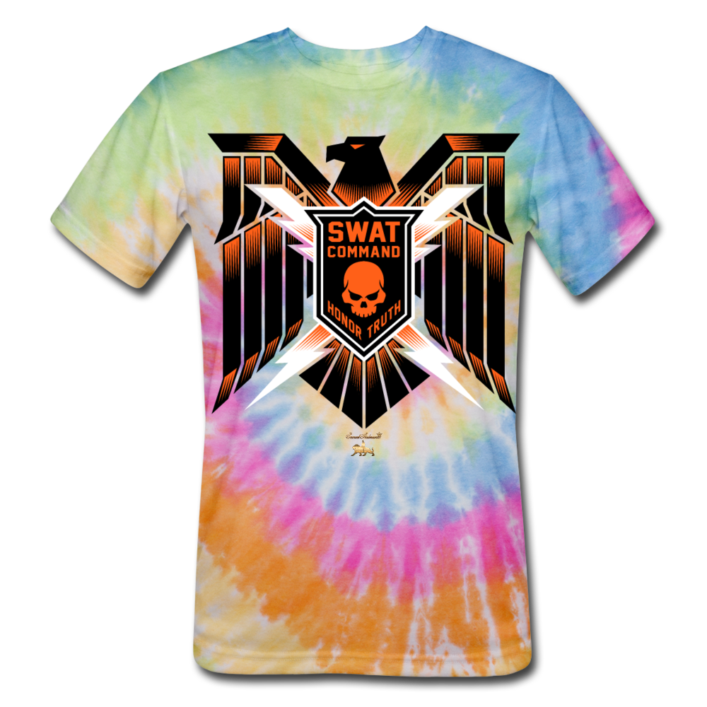 S.W.A.T- Command Team Unisex Tie Dye T-Shirt - rainbow