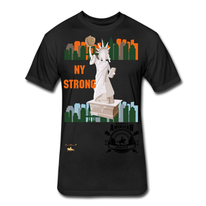 N.Y Strong Fitted Cotton/Poly T-Shirt - black