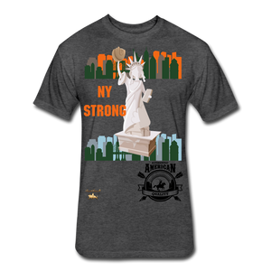 N.Y Strong Fitted Cotton/Poly T-Shirt - heather black