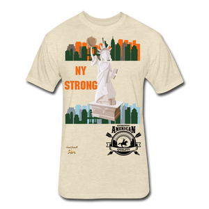 N.Y Strong Fitted Cotton/Poly T-Shirt - heather cream
