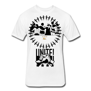 Unite As One People Fitted Cotton/Poly T-Shirt by Next Level - white