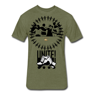Unite As One People Fitted Cotton/Poly T-Shirt by Next Level - heather military green