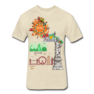 Classic Collections of Countries, Cities and Continent Fitted Cotton/Poly T-Shirt - heather cream