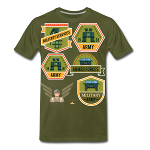 Untouchable Angels Men's Premium T-Shirt - olive green