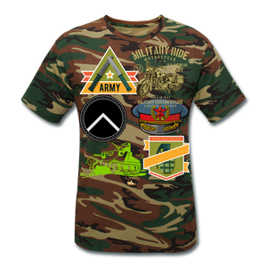 Military Ride Unisex Camouflage T-Shirt - green camouflage