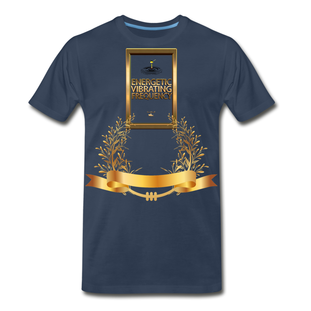 Energetic Vibrating Frequency Premium T-Shirt - navy