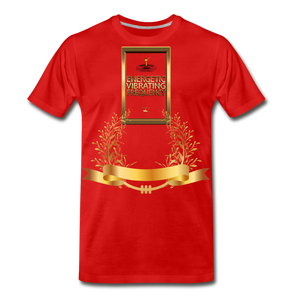 Energetic Vibrating Frequency Premium T-Shirt - red