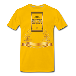 Energetic Vibrating Frequency Premium T-Shirt - sun yellow