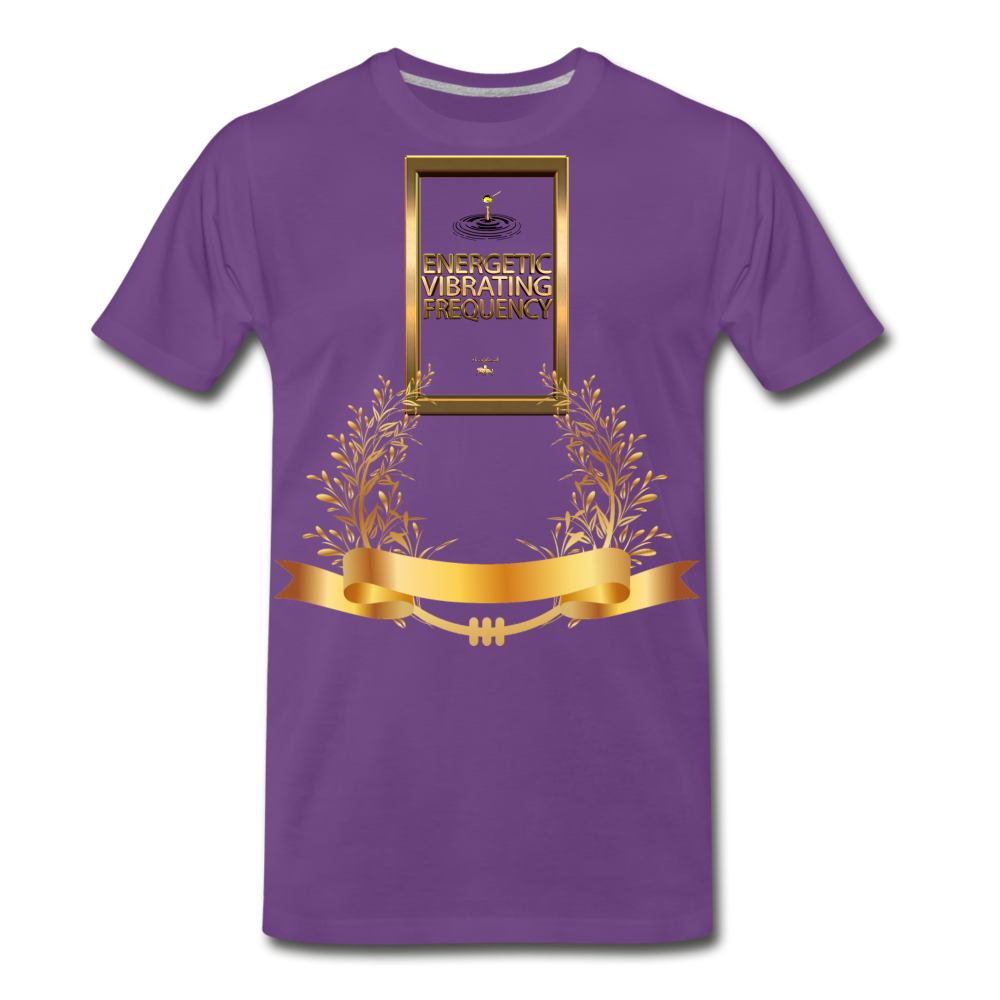 Energetic Vibrating Frequency Premium T-Shirt - purple