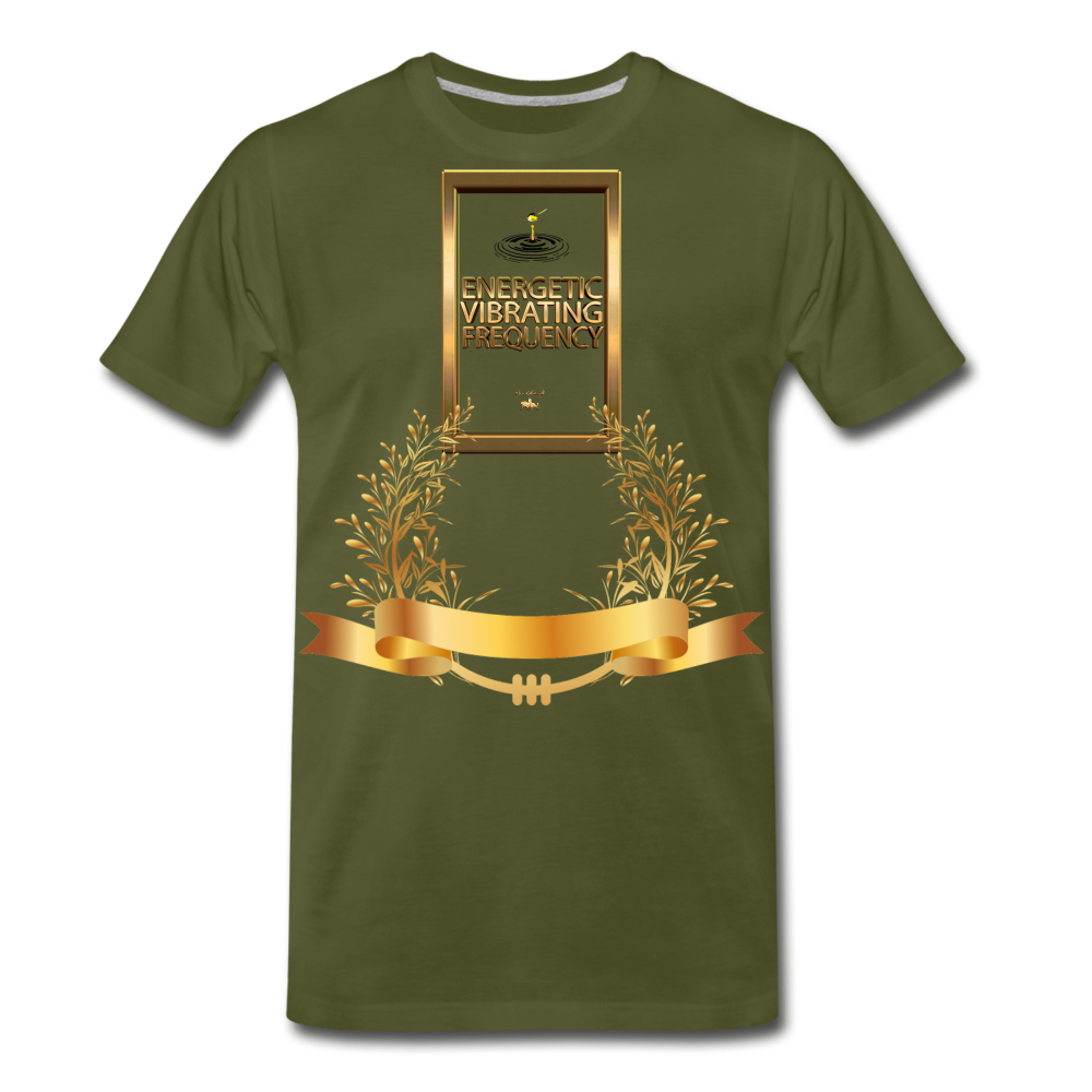 Energetic Vibrating Frequency Premium T-Shirt - olive green