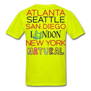 Locations Men's T-Shirt - safety green