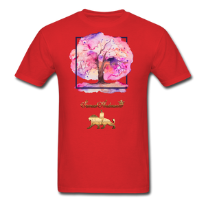 Tree of Life Men's T-Shirt - red
