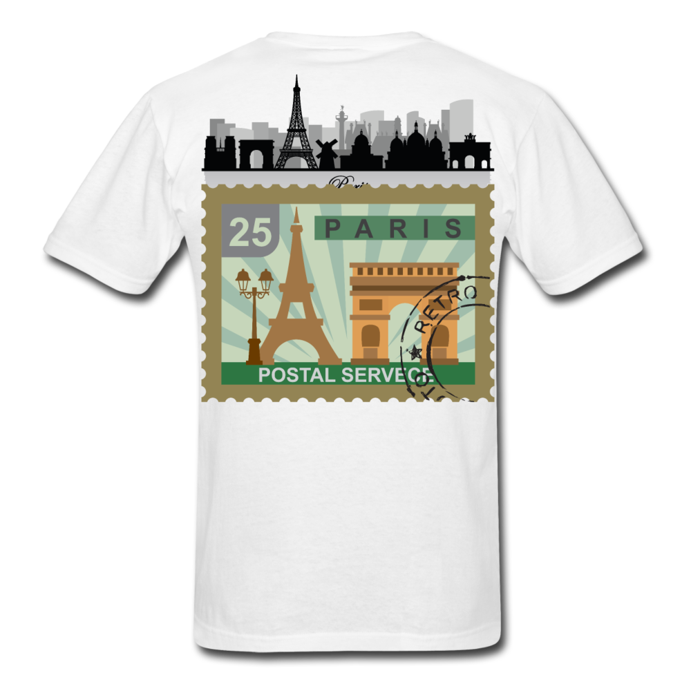 Paris Men's T-Shirt - white