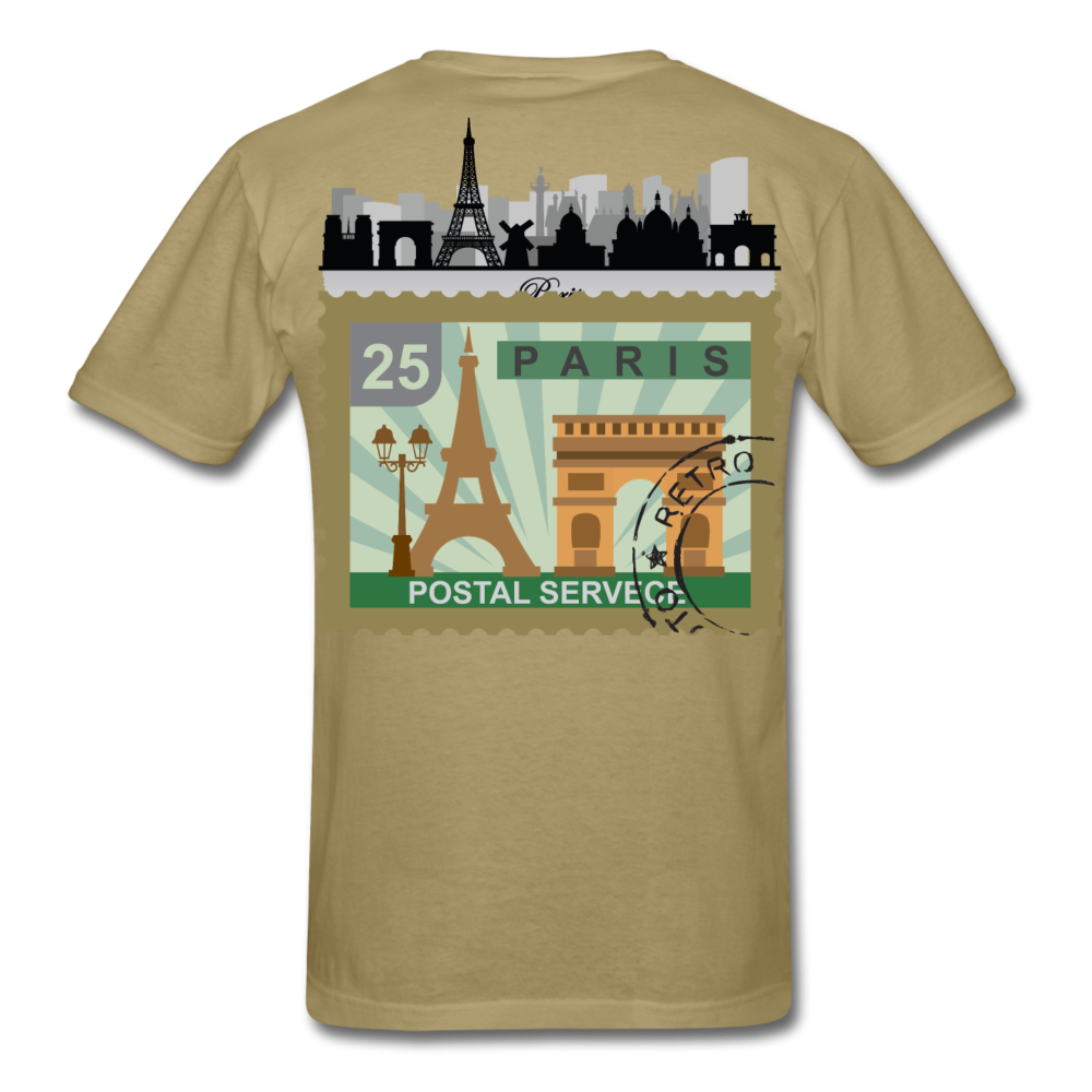 Paris Men's T-Shirt - khaki