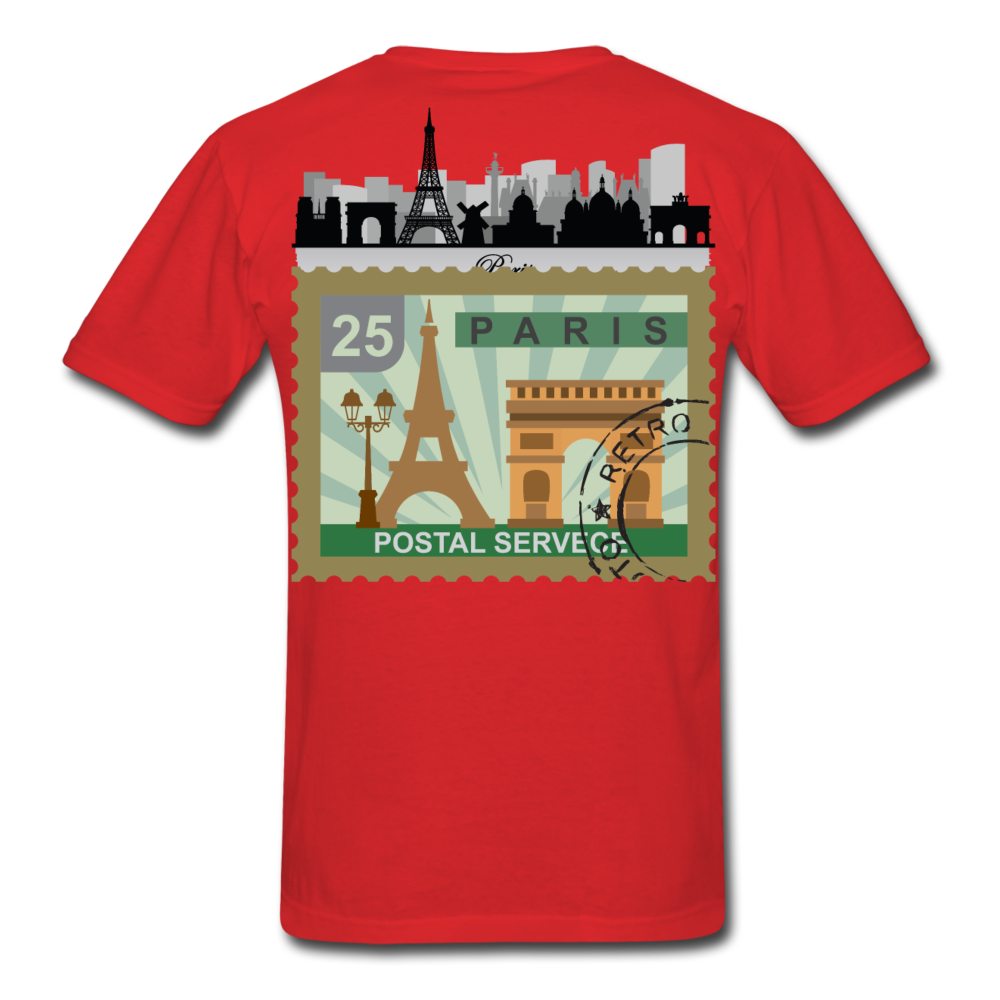 Paris Men's T-Shirt - red