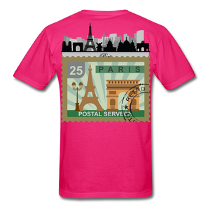Paris Men's T-Shirt - fuchsia
