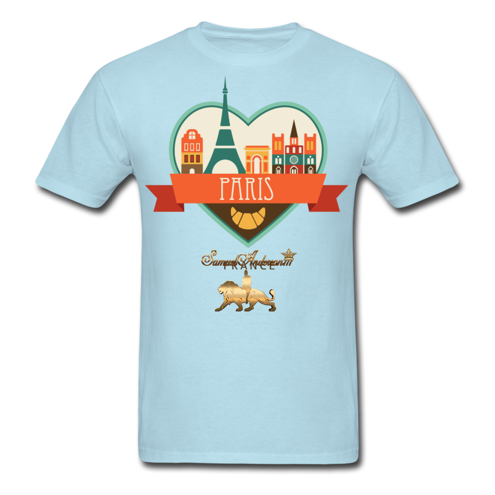 Paris Men's T-Shirt - powder blue
