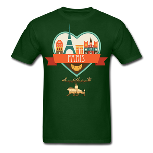 Paris Men's T-Shirt - forest green