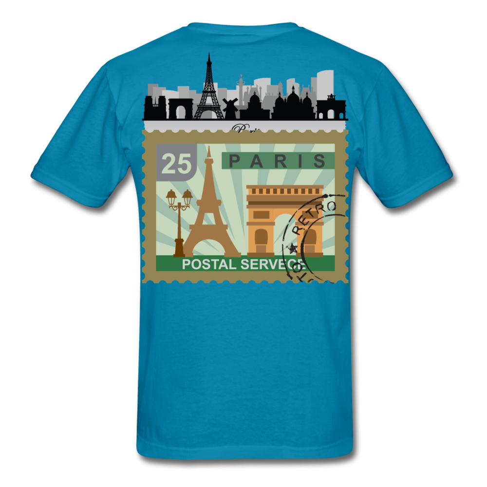 Paris Men's T-Shirt - turquoise