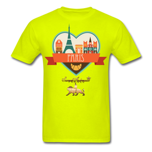 Paris Men's T-Shirt - safety green